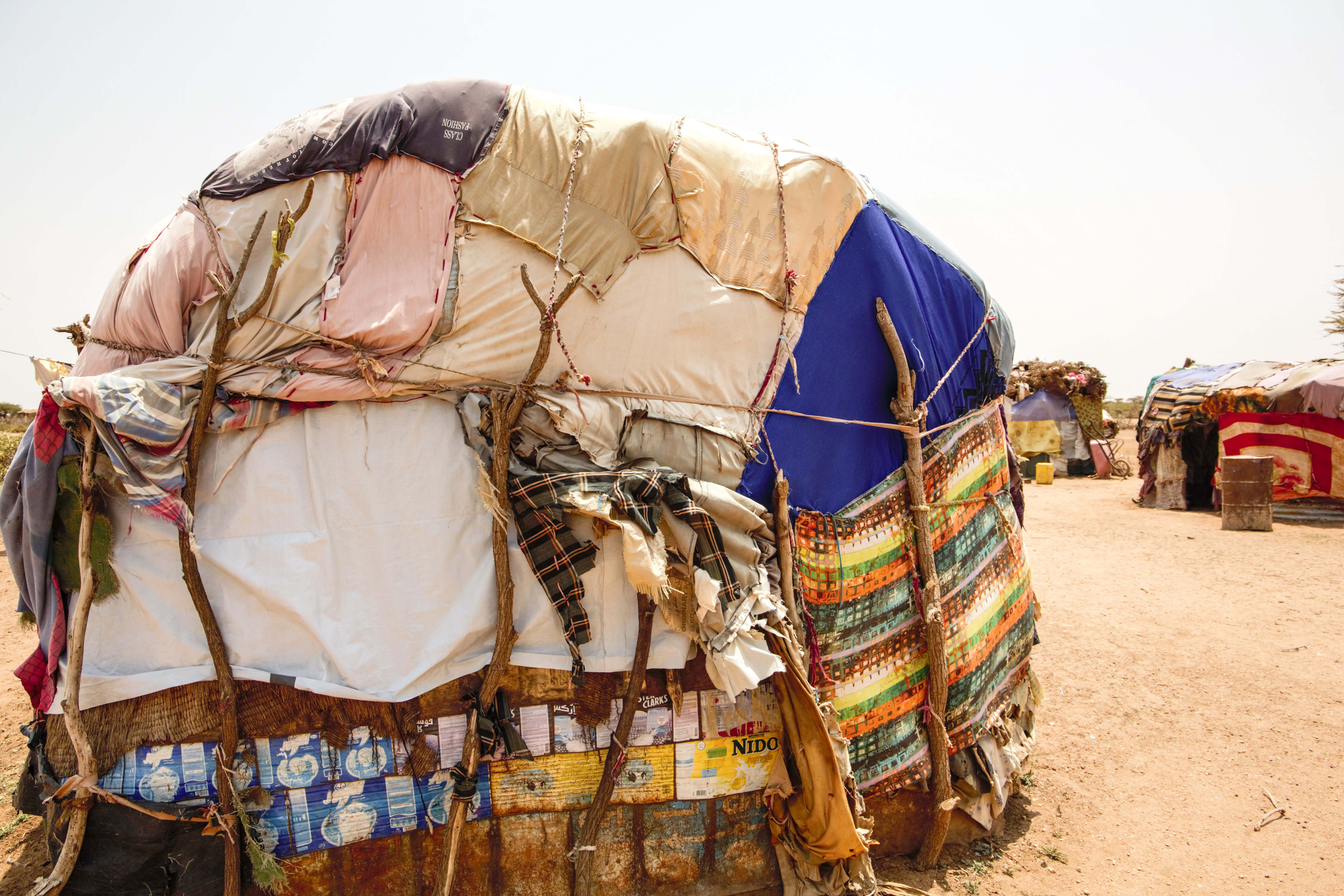 Fatima's shelter in Somaliland