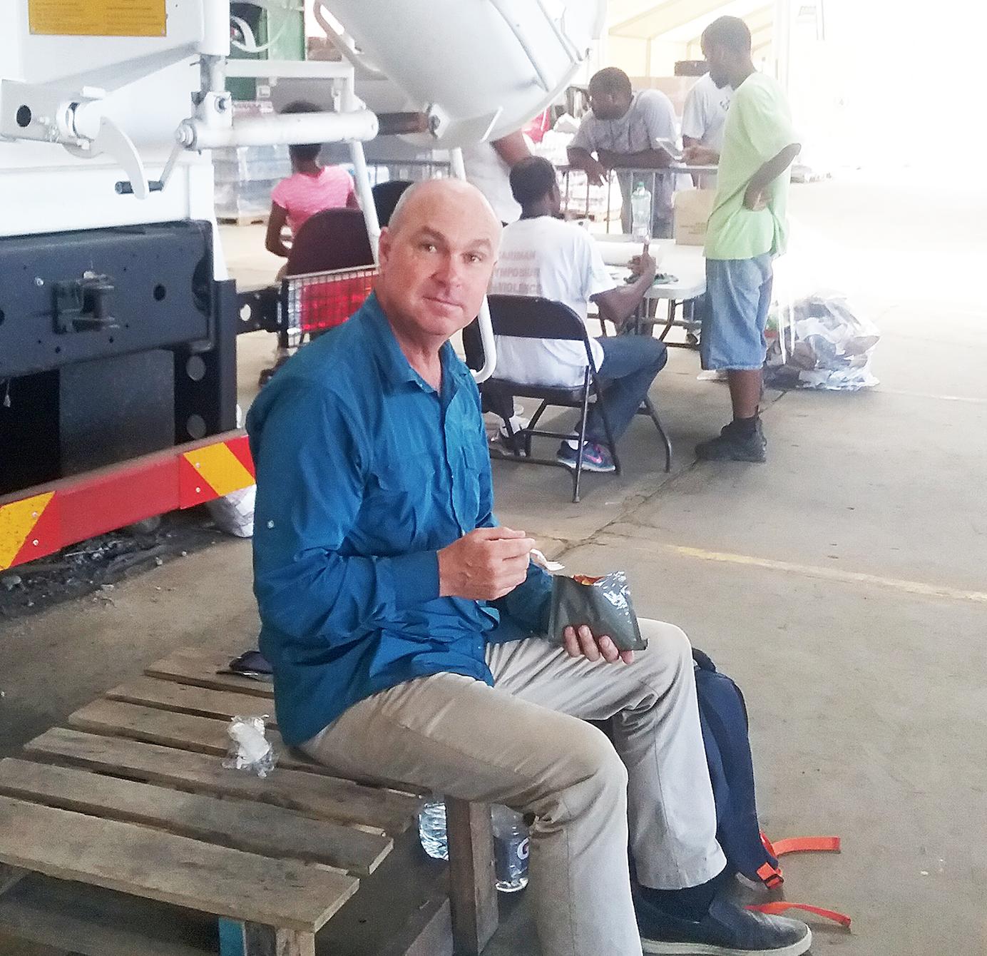 Jeff, a ShelterBox Australia response team volunteer