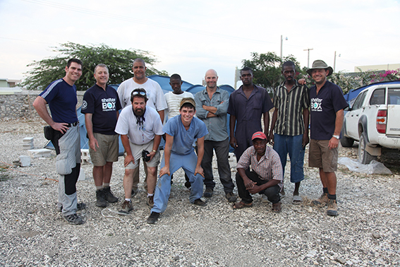 ShelterBox Response Team with volunteers from the Miami University Filed Hospital