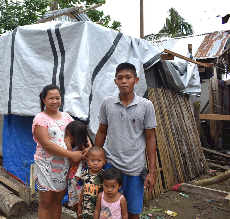 This year, we've already supported families like Nelcie's in the Philippines after Typhoon Vongfong (Ambo).